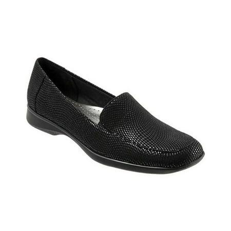 Trotters Womens Jenn Mini Suede Slip On Loafers