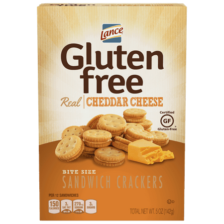 Lance Gluten Free Cheddar Cheese Sandwich Crackers, 5 Oz, 4 Ct