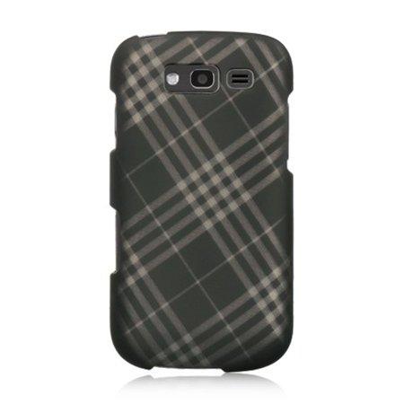 DreamWireless CRSAMBLAZESMDLCK Samsung Galaxy Blaze 4G Crystal Case, Smoke Diagonal Checker