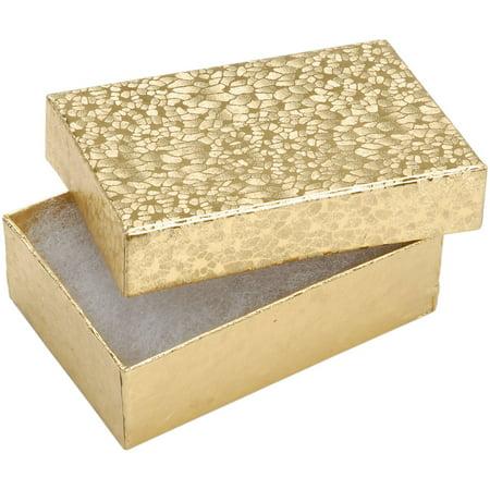 Darice Thick Cardboard Jewelry Organizer Box, Small, Gold, 6 Piece