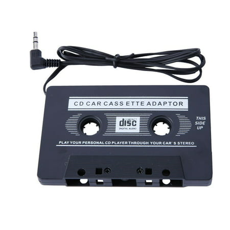 Black Car Stereo Audio Cassette Tape Adapter