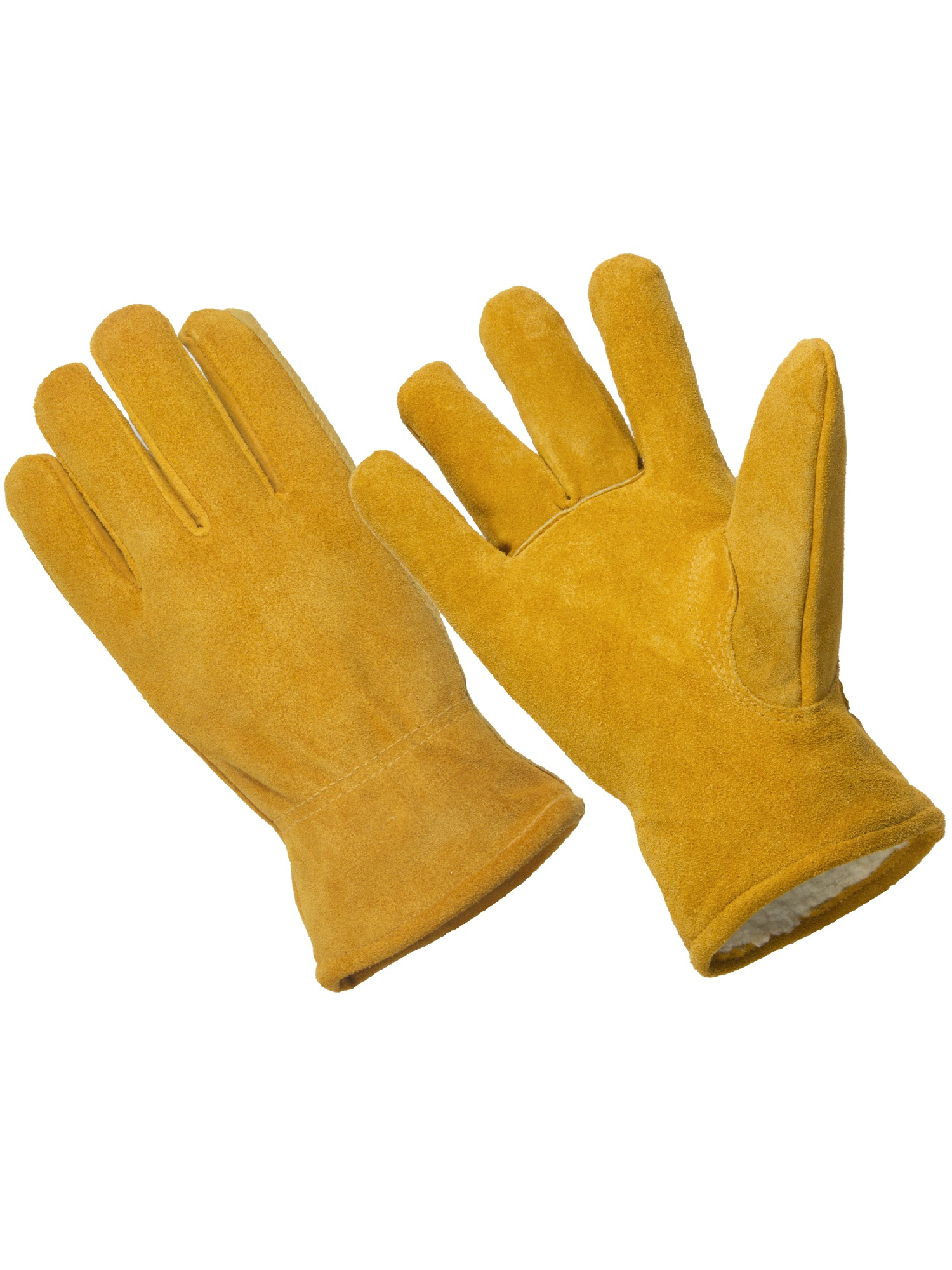 LD4005-M, Premium Cow Suede Leather Driver Glove, Sherpa Lined