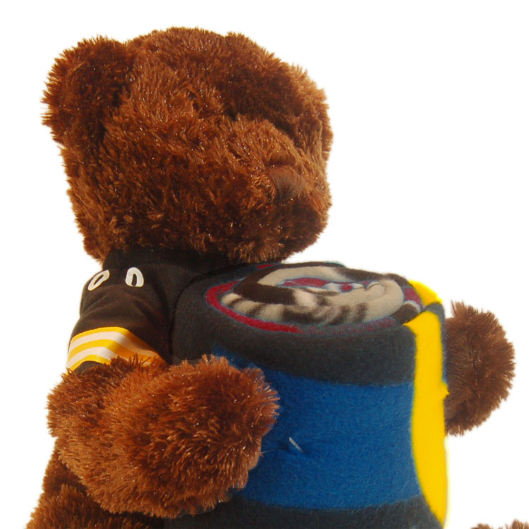 NFL Pittsburgh Steelers Teddy Bear Hugger Throw Blanket Set