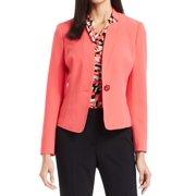 Kasper NEW Guava Pink Women's 8P Petite Single Button Career Crepe Jacket $79