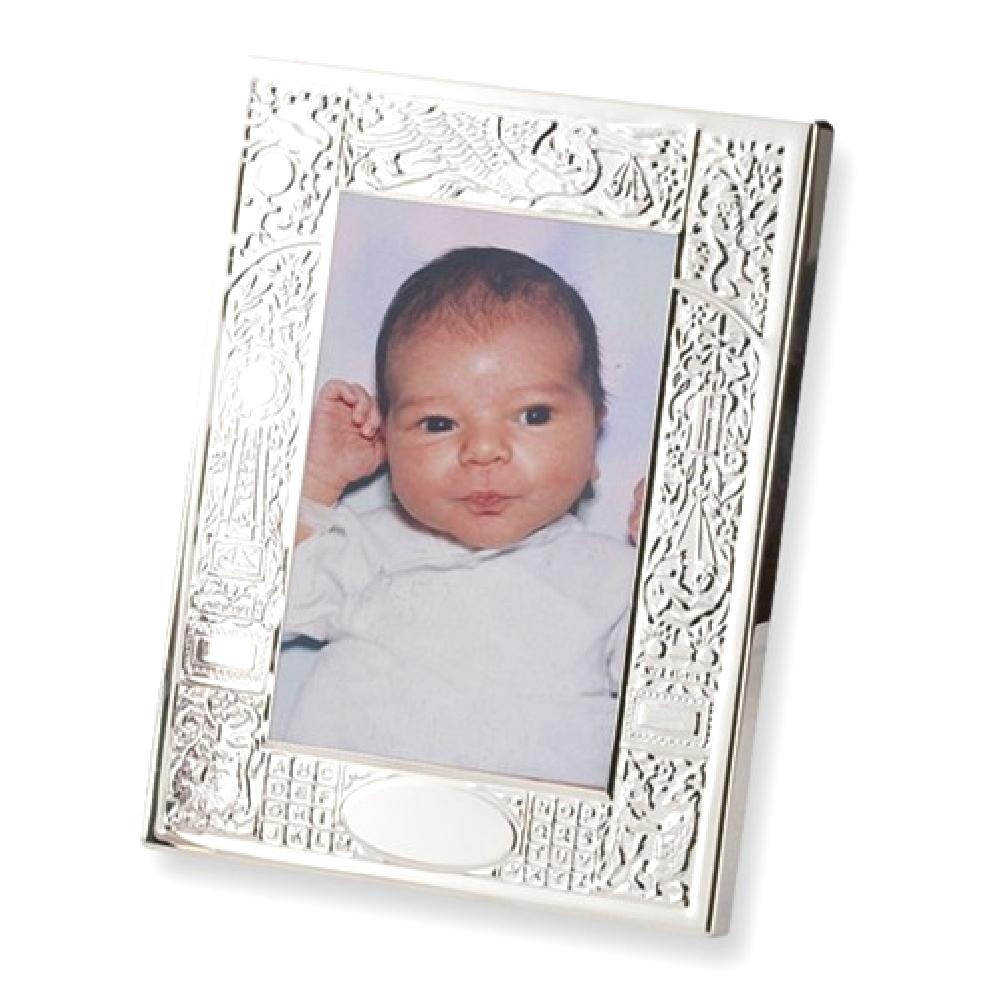 IceCarats 925 Sterling Silver 4x6 Birth Record Frame  Pho...