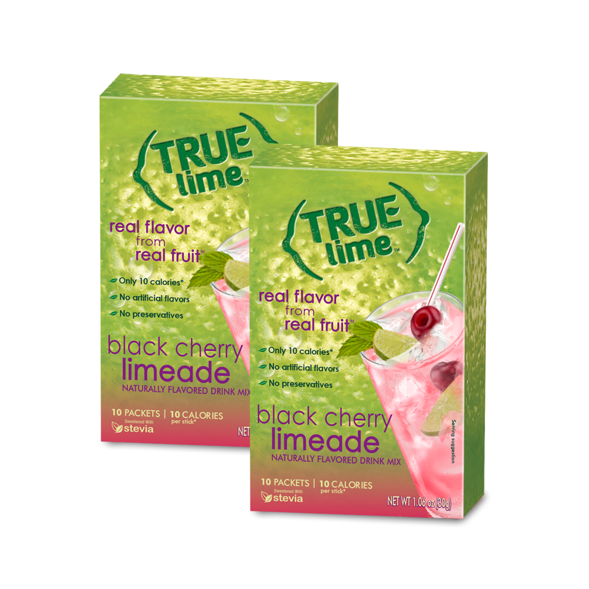 True Lemon Drink Mix, 1.06 Oz, Black Cherry Limeade, 10 Packets (Pack of 1)