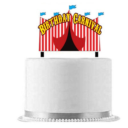 Birthday Carnival Cake Decoration Banner](Carnival Theme Cake)