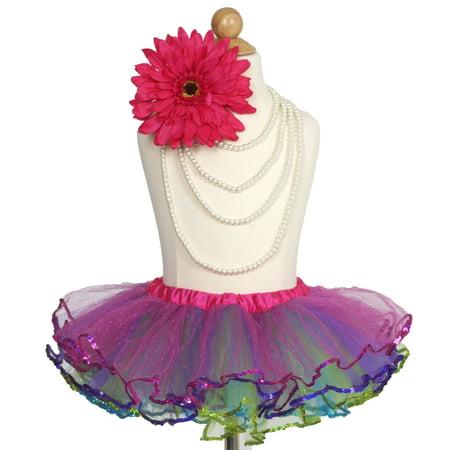 Efavormart Adventurous Multi-color Sequined Girls Ballet Tutu Skirt for Dance Performance Events Wedding Party Banquet Event -