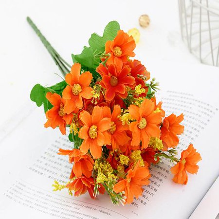 KABOER 1 pcs  Artificial Flower Faux Silk Daisy Wildflowers Greenery Shrubs Plants Plastic Bushes Indoor Farmhouse Outside Garden Planter Decor - Wildflower Toronto Halloween