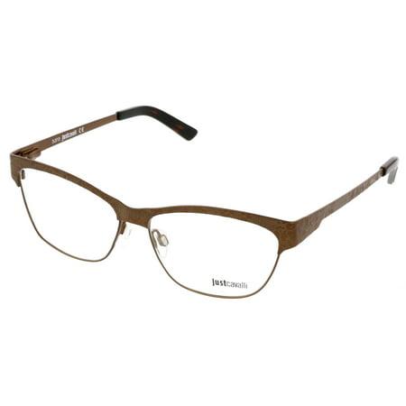 Just Cavalli JC0476/V 048 Bronze Semi-Rimless Optical Frames ...