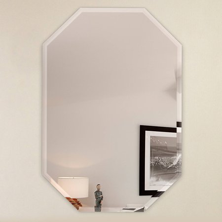 20 x 30 octagon frameless wall mirror bevel polish with for Mirror 20 x 30