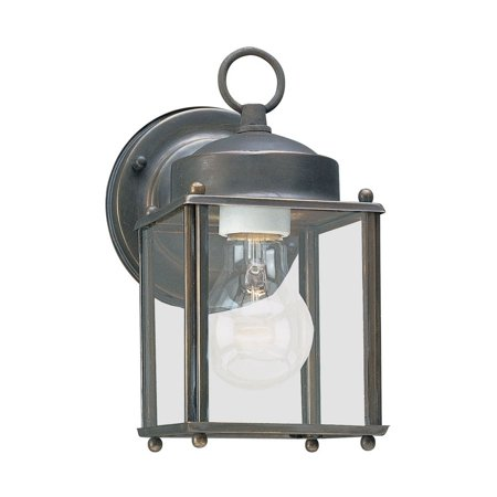 Aged Copper Outdoor Wall Light - Sea Gull Lighting-8592-71-One Light Outdoor Aged Oxidized Bronze