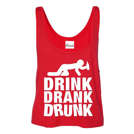 35b3ad0e025d3 Mom s Favorite - Drink Drank Drunk Boxy Tank Top Drinking Tank Tops -  Walmart.com