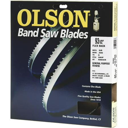 OLSON SAW Bandsaw Blade, 3/8 x 93.5-In., 4-TPI