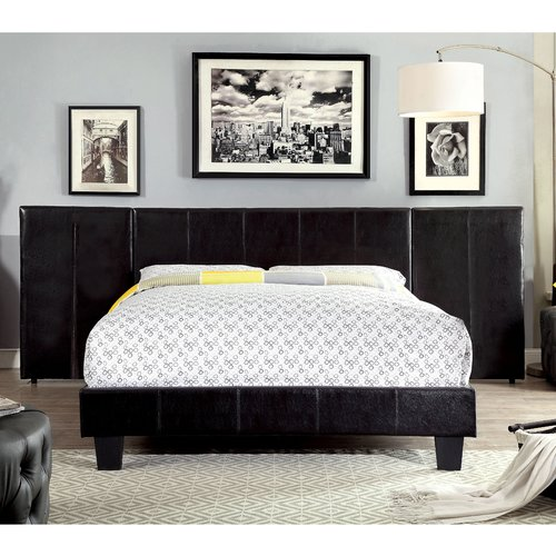Wrought Studio Riverside Drive Contemporary Upholstered Panel Headboard