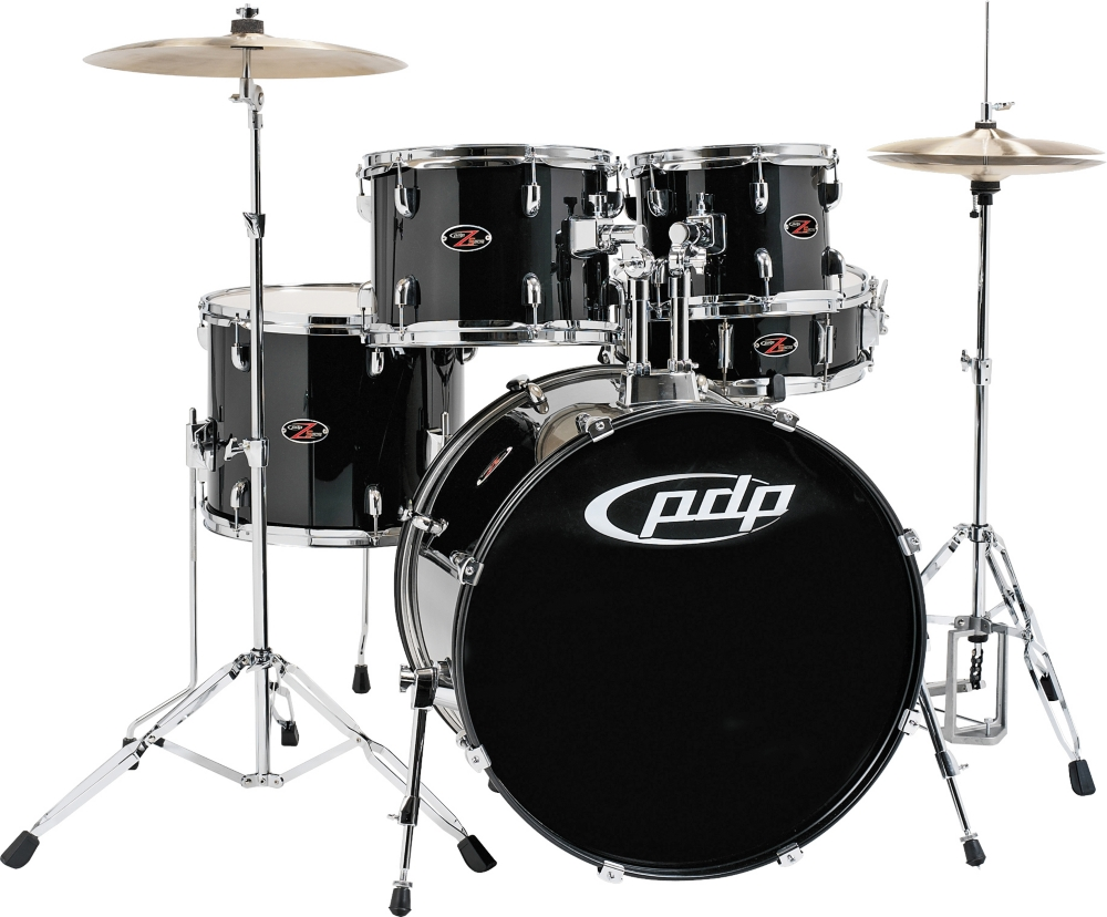 PDP by DW Z5 Complete Drum Set with Hardware and Cymbals Carbon Black by PDP by DW