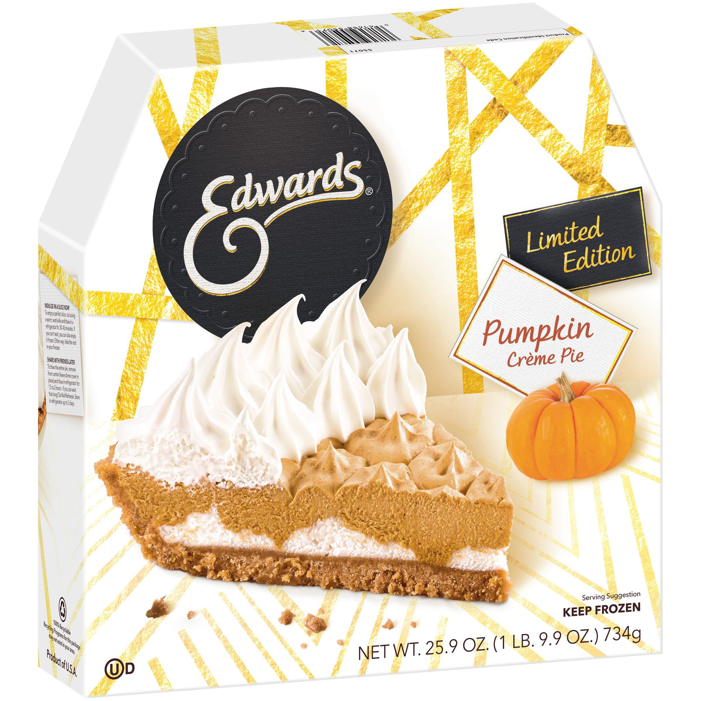 Edwards Limited Edition Pumpkin Cr¨me Pie 25 9 oz Box Walmart