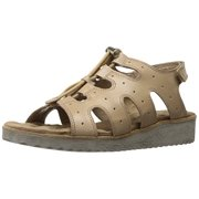 Walking Cradles Women's Harley Flat Sandal, Taupe, 8 2W US