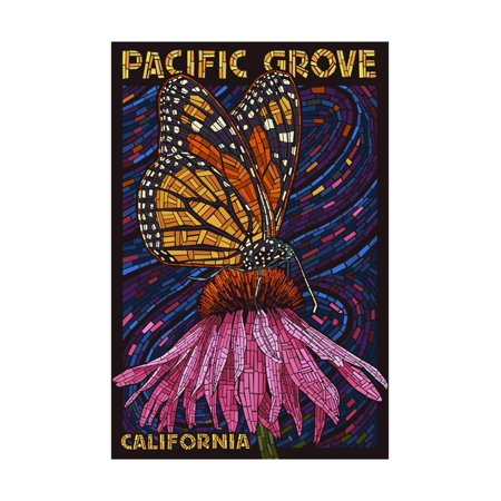 Pacific Grove, California - Monarch Butterfly - Paper Mosaic Print Wall Art By Lantern Press