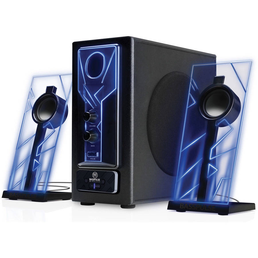 GOgroove SonaVERSE O2i Computer Speaker System with Universal USB Power,  Passive Subwoofers and Built-in Volume Control for Laptop and Desktop