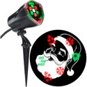Lightshow Christmas Projection Plus Whirl-a-Motion Static Santa