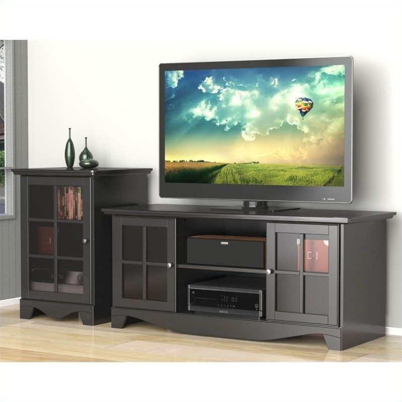 "Nexera Pinnacle 2 Piece 56"" HEC Entertainment Set in Black - image 1 de 1"