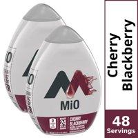 (2 Pack) MiO Cherry Blackberry Sugar Free, Caffeine Free Liquid Water Enhancer, 1.62 fl oz Bottles