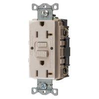Bryant Electric GFRST20LA 20 Amp 125V Commercial/Residential Self Test Duplex GFCI Receptacle, Light Almond