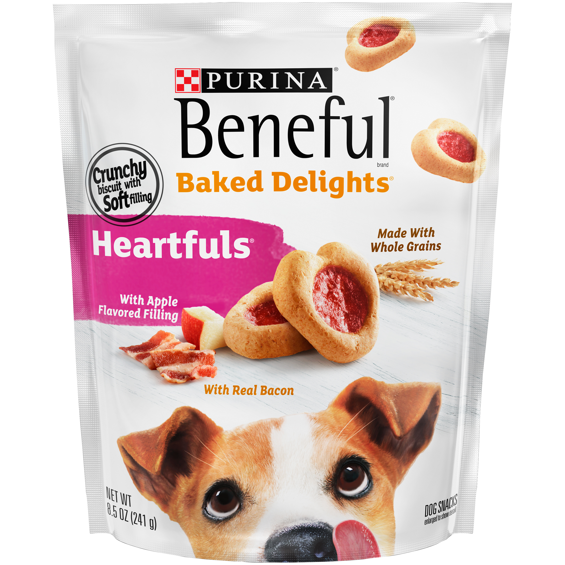 Purina Beneful Baked Delights Heartfuls Dog Snacks 8.5 oz. Pouch