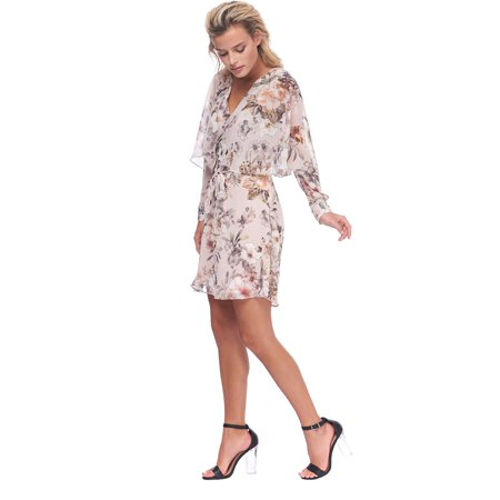 ABS Collection Womens Surplice Floral Cocktail Dress