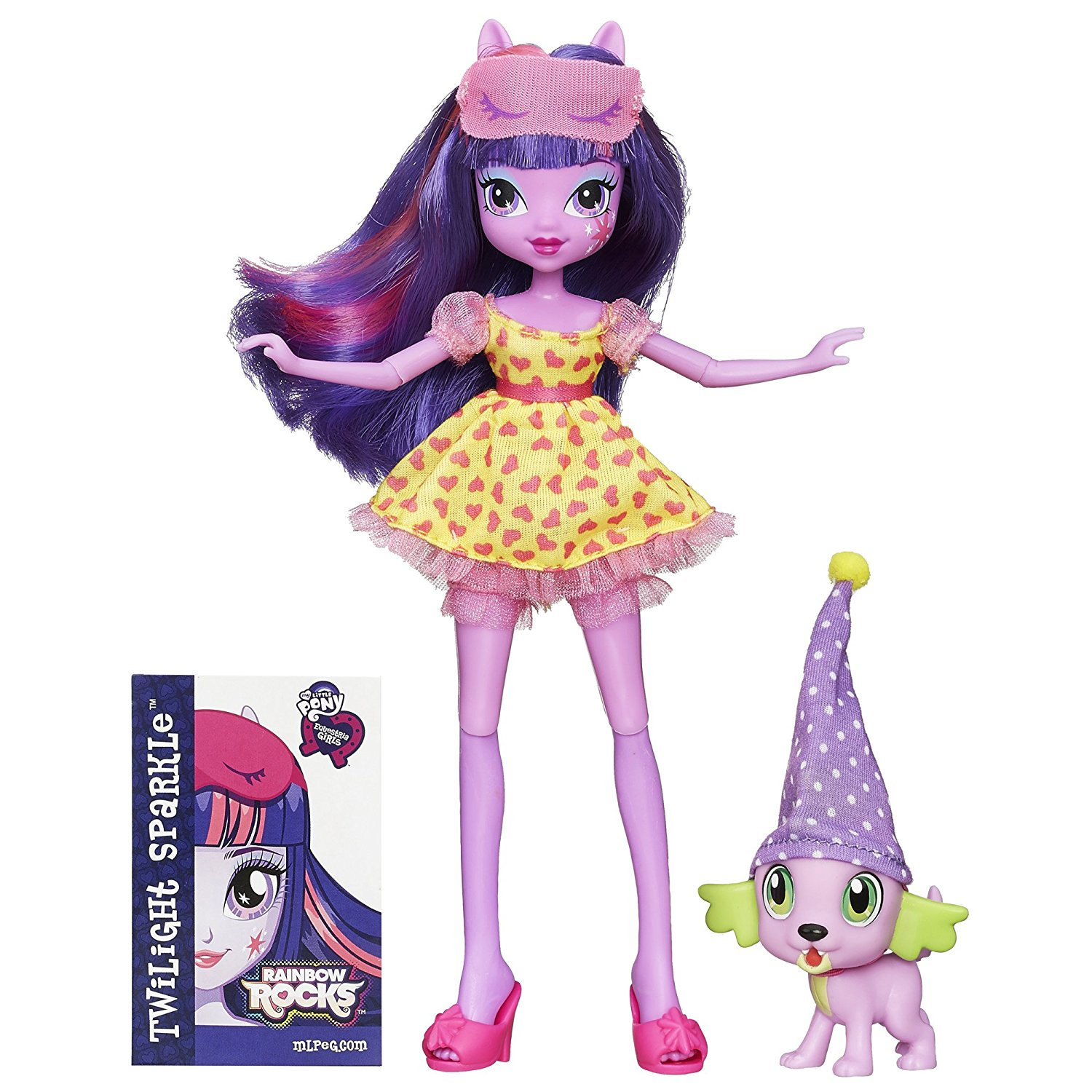 Equestria Girls Twilight and Spike, Sassy Equestria Girls Twilight Sparkle doll comes with Spike the Puppy pet By My Little Pony Ship from US