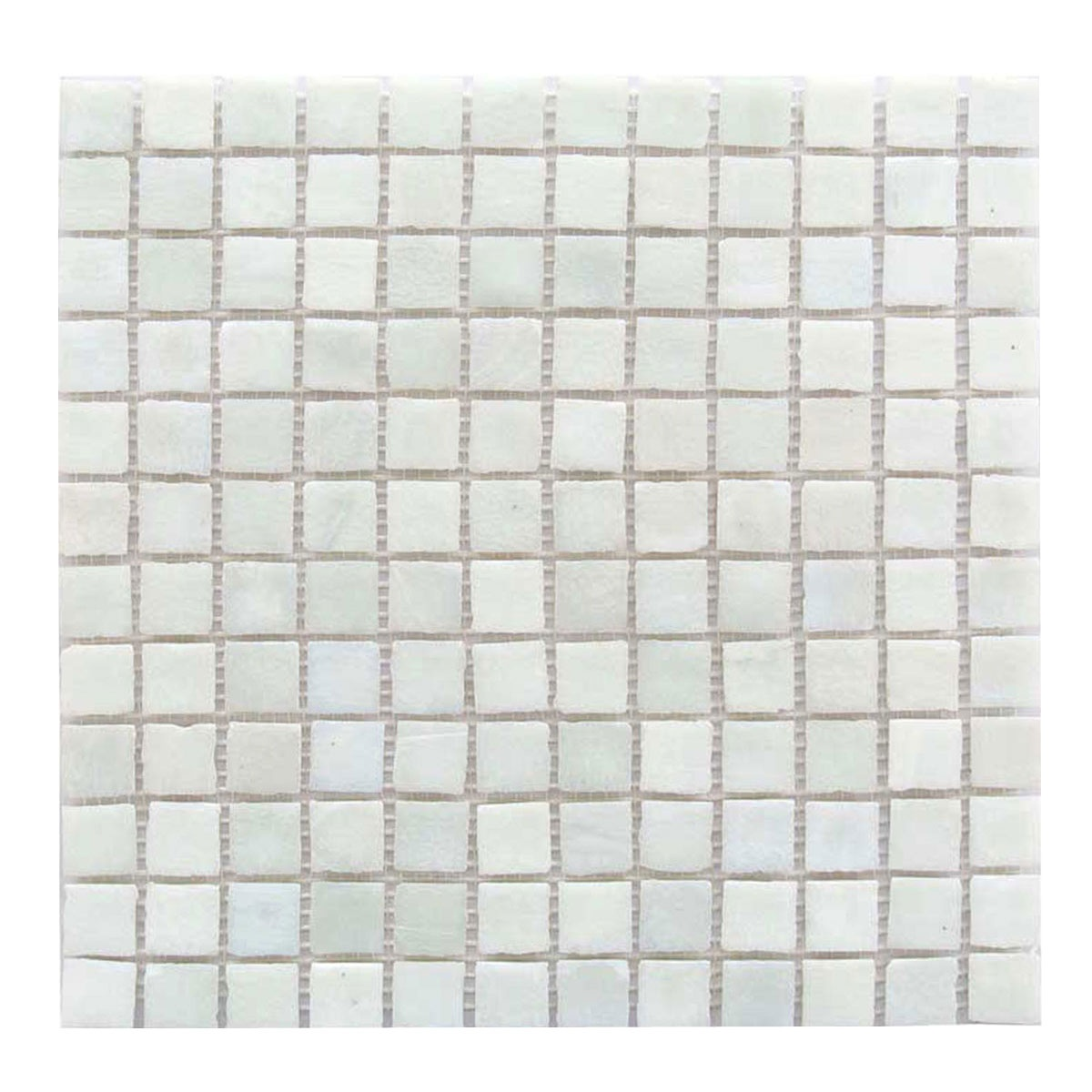 "Abolos- LEED Amber 1"" x 1"" Glass Mosaic Tile in Cream (5sqft / 5pc Box)"