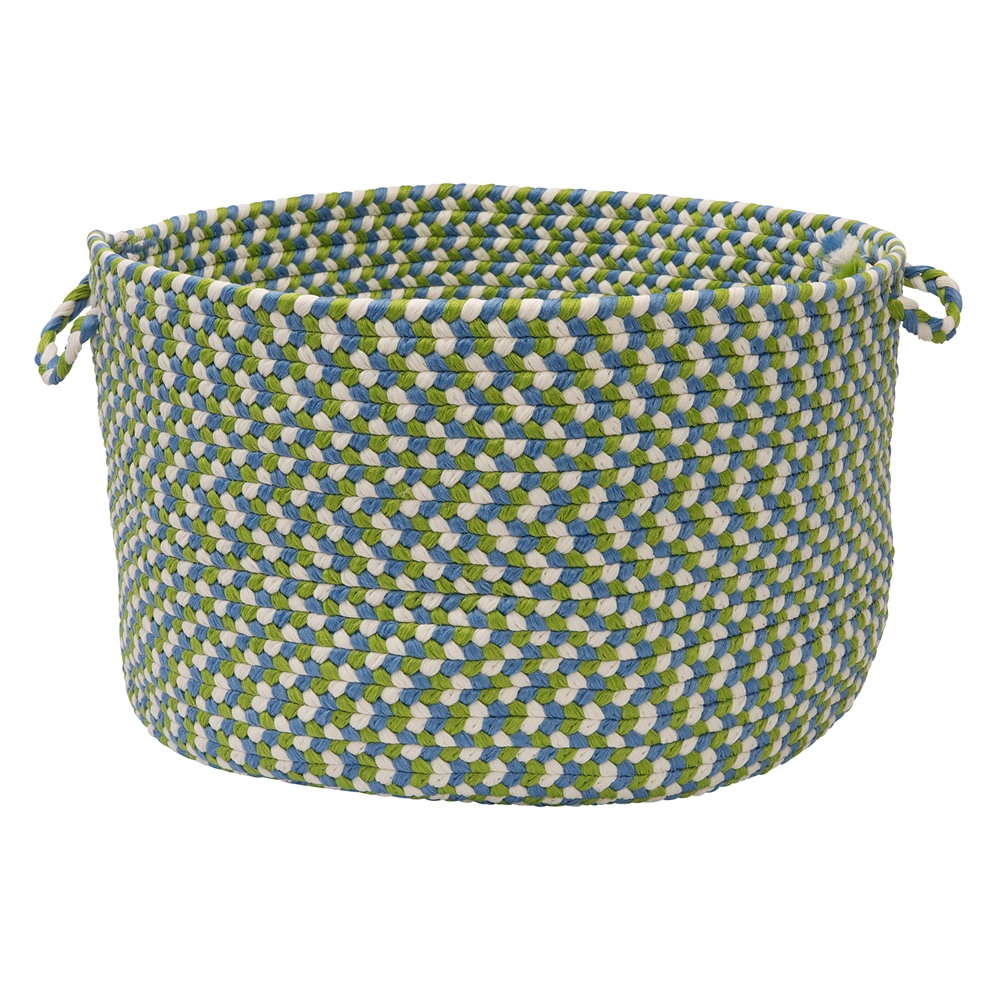 "Colonial Mills Carousel - Lime Spin 14""x10"" Utility Basket"