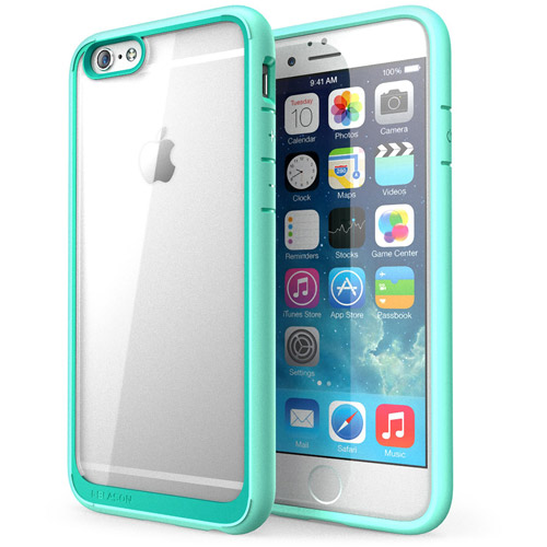 i-Blason Halo Series Scratch-Resistant Transparent Hybrid Case with TPU Bumper for Apple iPhone 6 & 6S Plus