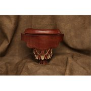 Hood Leather 996535 6 Medium Brown Pool Table Pockets with Weave Shield