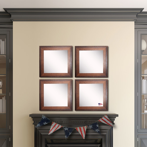 Rayne Mirrors AvaTimber Estate Wall Mirror (Set of 4)