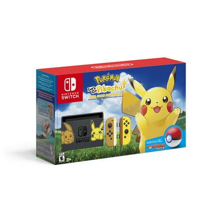 Nintendo Switch Pikachu Edition Bundle, Gray/Yellow,
