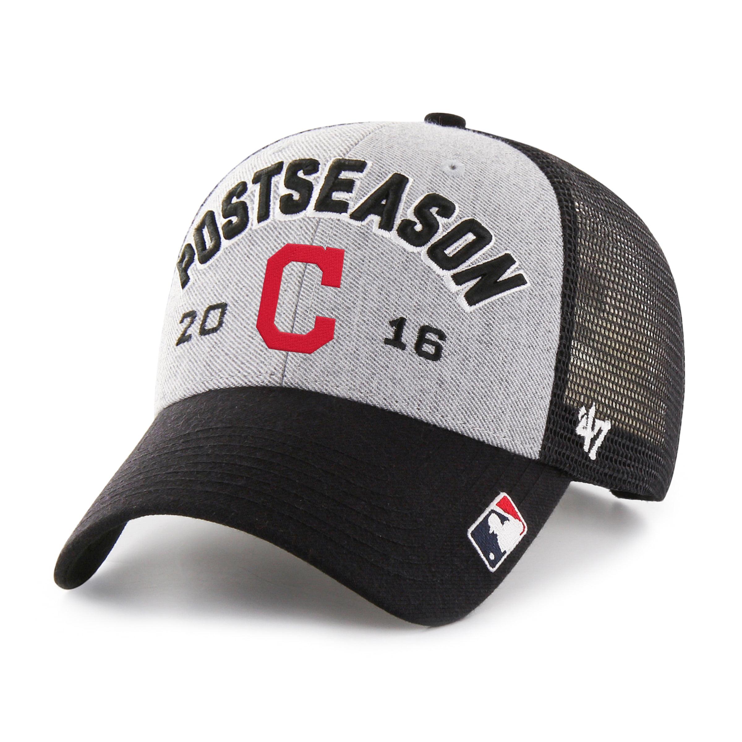 Cleveland Indians '47 2016 AL Central Division Champions Locker Room Adjustable Hat - Gray/Black - OSFA