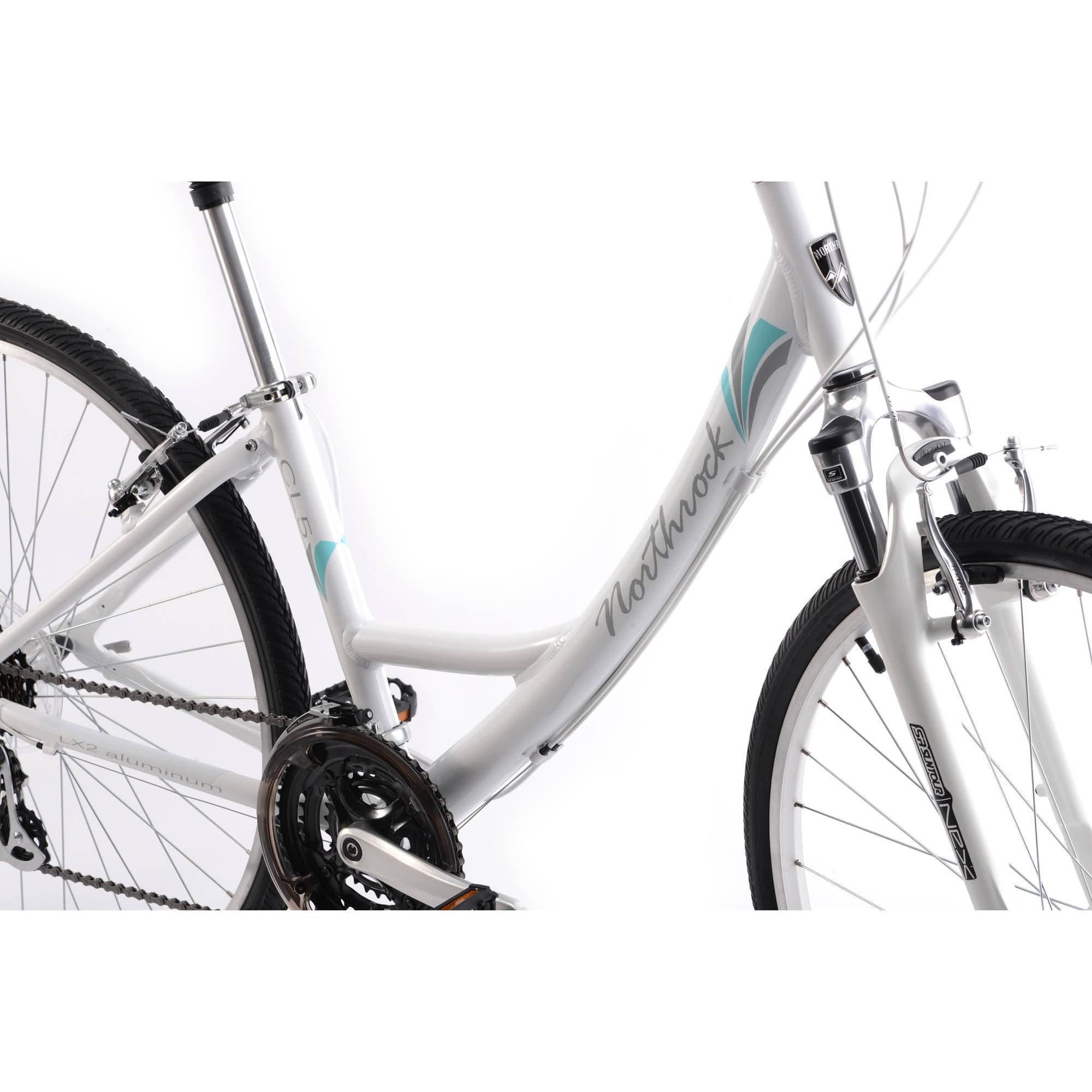 700c Women S Cl5 Northrock Comfort Bike Pearl White