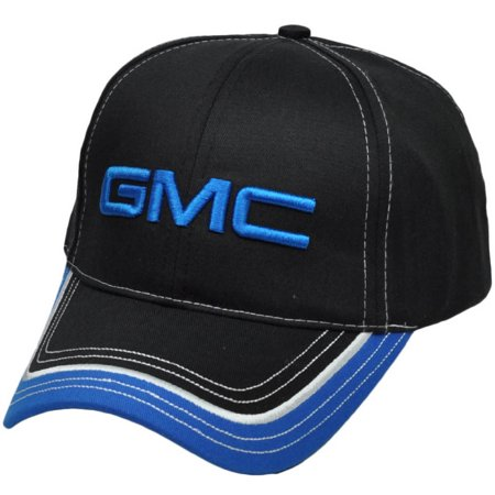 General Motors Company Car Trucks Gmc Black Blue Automobile Hat Cap Adjustable