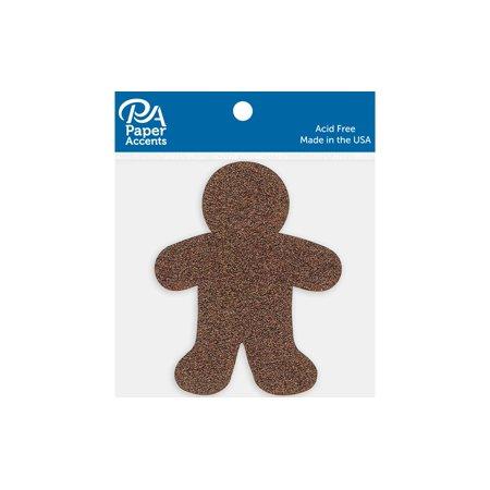 Glitter Shape 8Pc Gingerbread Man Bronze - image 1 of 1