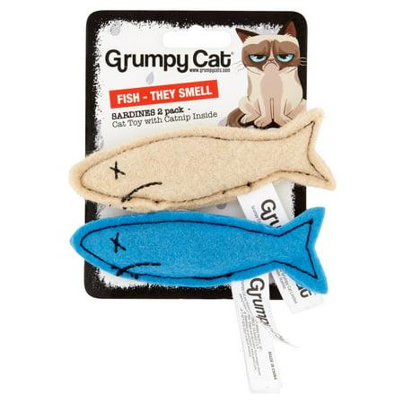 Grumpy Cat Sardines Cat Toy  2 Count