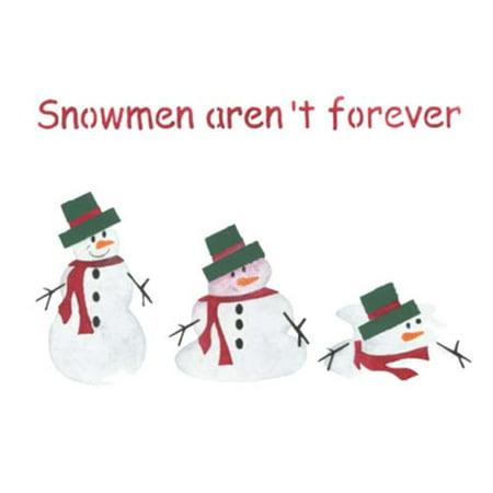 Large Melting Snowman Wall Stencil SKU #2831 by Designer Stencils