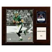 "C & I Collectables NFL 12"" x 15"" Carson Wentz Philadelphia Eagles Player Plaque"