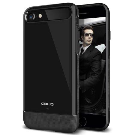 iPhone 7 Case, OBLIQ [Dual Meta][Jet Black] - Protective Slim Dual Composite Vibrant Luxury & Enhanced Grip Form Fitting Style Case for Apple iPhone 7