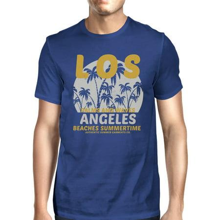 LA Beaches Summertime Mens Blue Vintage Design T-shirt Gift Ideas