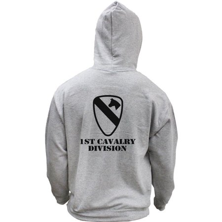 Army 1st Cavalry Division Subdued Veteran Pullover Hoodie Sweatshirt