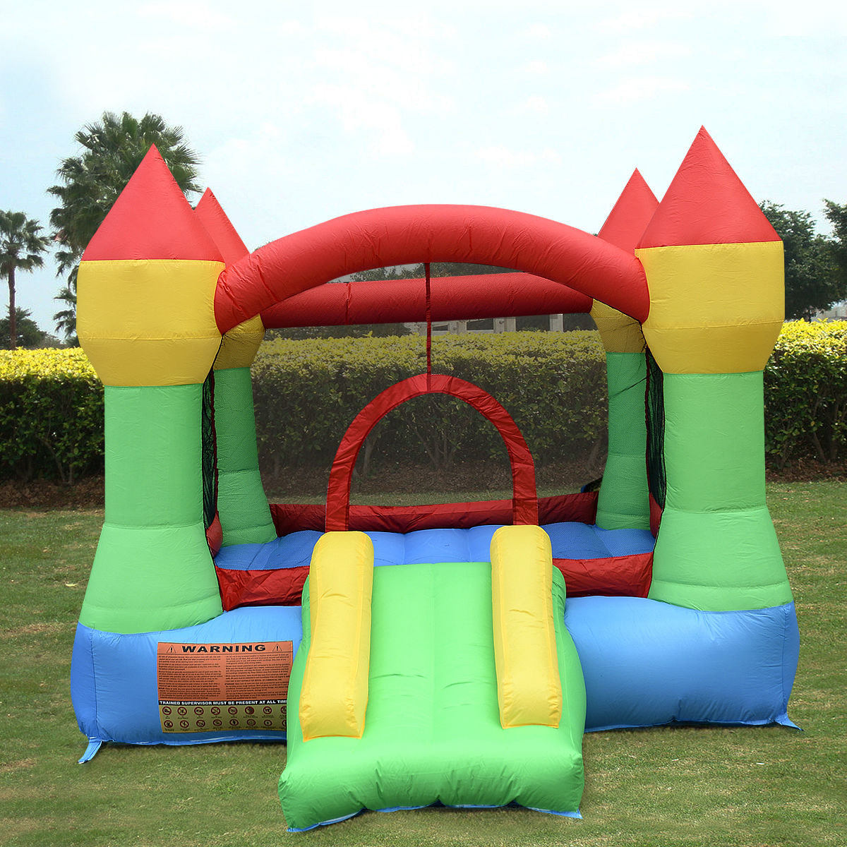 costway inflatable mighty bounce house castle jumper moonwalk bouncer without blower walmartcom - Inflatable Bounce House
