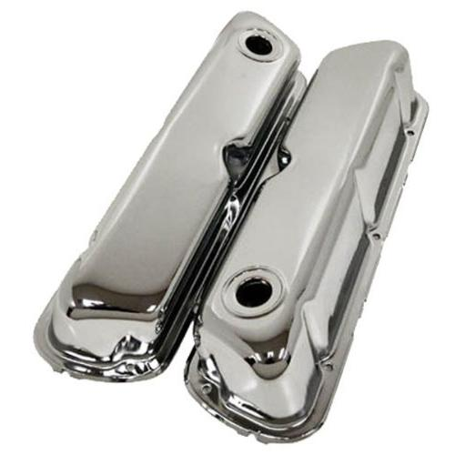 1962-85 Ford Small Block 260-289-302-351W Steel Valve Covers - Chrome
