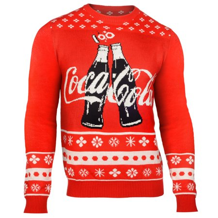 Coca Cola Thematic Coke Bottles Holiday Men's Ugly Sweater